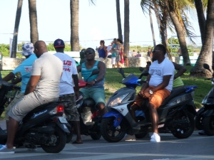The moped 'gangs'