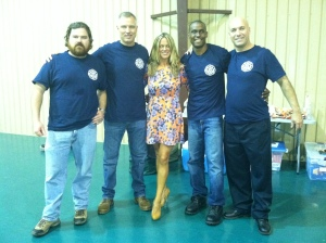 Party-goer and firefighters. This is how we roll :)