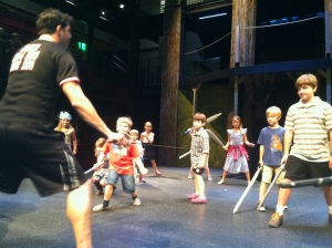 The kids love being on stage here