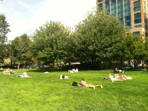 People were still sunbathing NYC style! :)