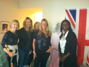 Me and the Brit gals with the Queen, innit