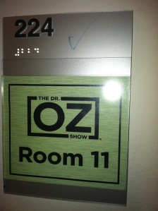 My Dr Oz dressing room :)