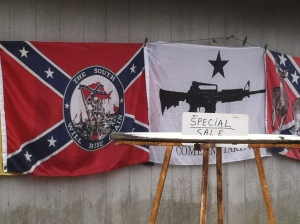 Guns and confederate mottos