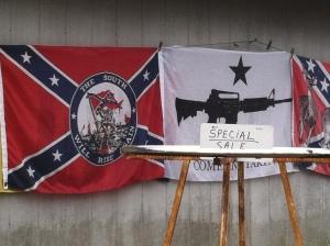 Guns and confederate mottos