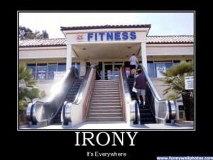 Love this irony!