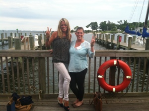 Me and @hocomoms hang out in Annapolis :)